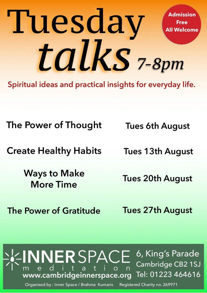 Tuesday talks august 2019